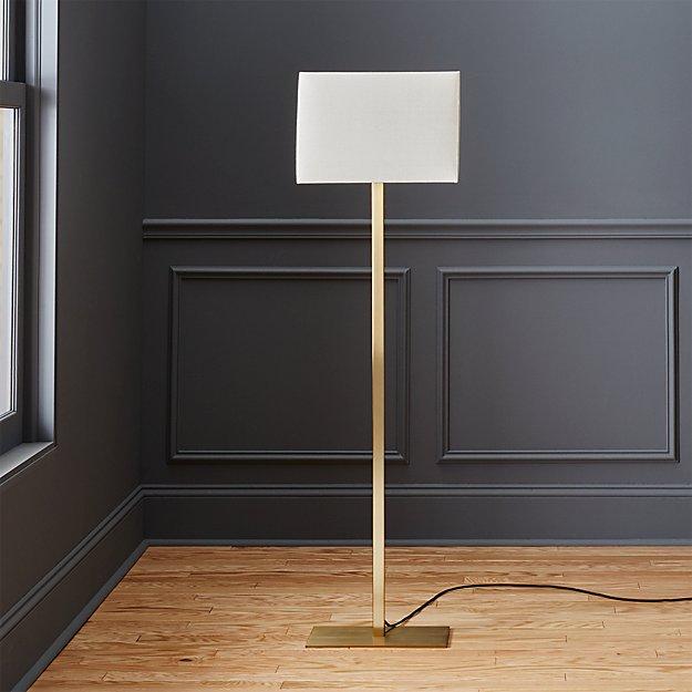 John metallic bronze floor lamp cb2 for Cb2 disk floor lamp