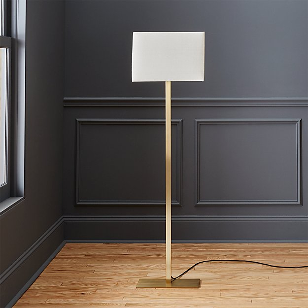 john metallic bronze floor lamp in floor lamps + Reviews | CB2