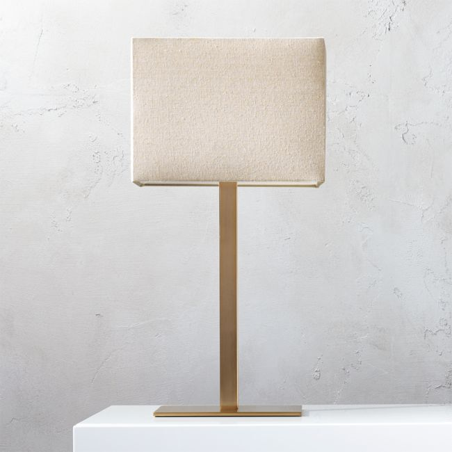 CB2 Stacked Marble Table Lamp stacked