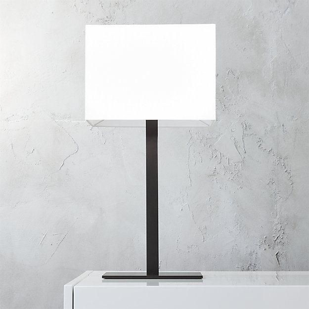 john table lamp - John Rectangular Table Lamp CB2