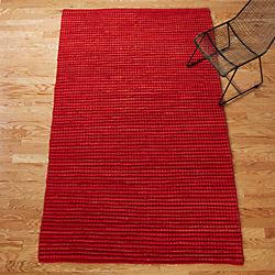 jersey cummulus brick red rug