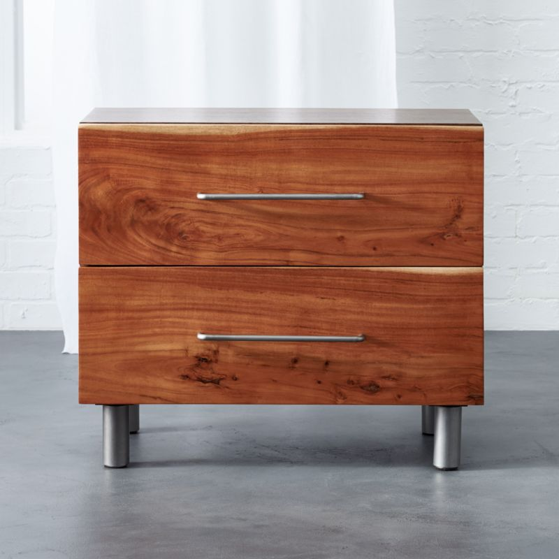 Mixed Material Nightstand Brown - Room Essentials™ : Target