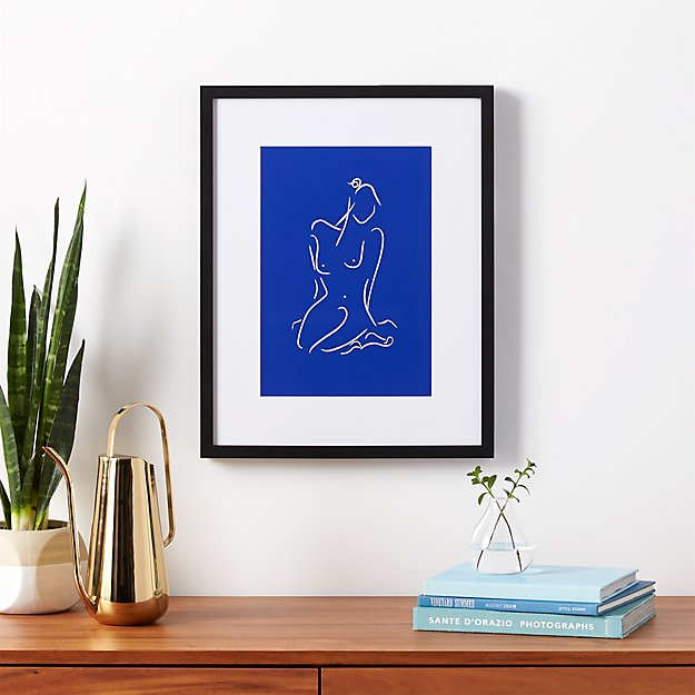 blue figure by kate worum