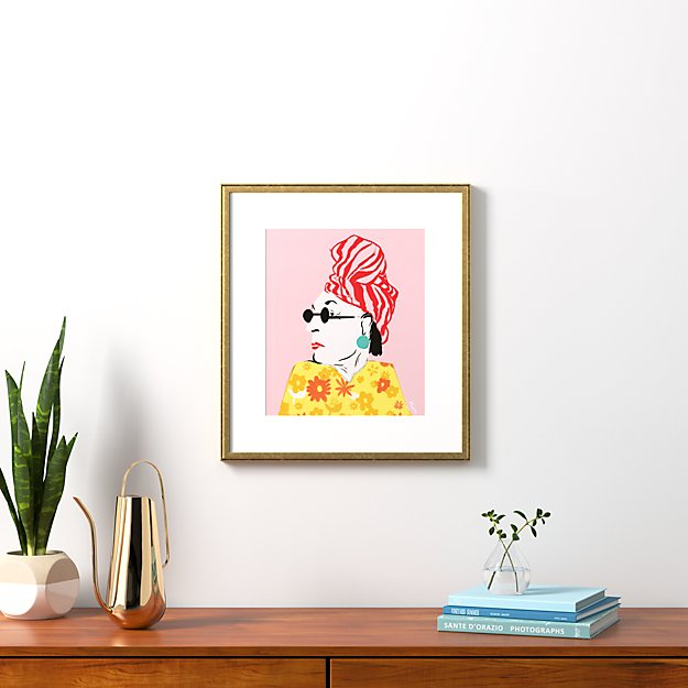 """beverly with gold frame 20.5""""x22.75"""""""