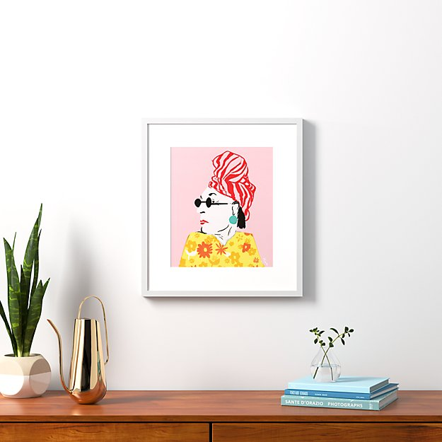 """beverly with white frame 20.5""""x22.75"""""""