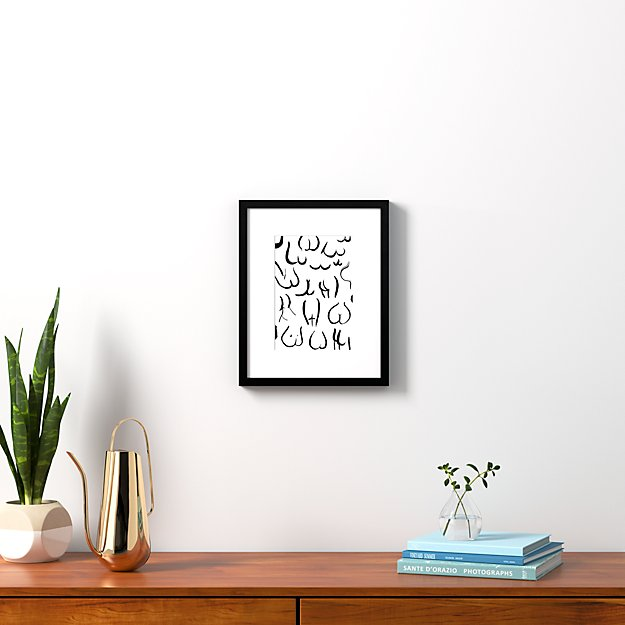 """bums black on white with black frame 13.5""""x16.75"""""""