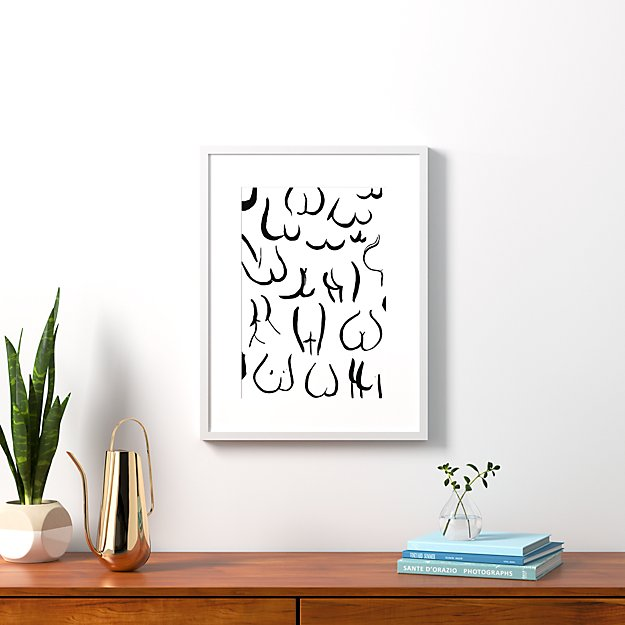 """bums black on white with white frame 20.5""""x26.5"""""""