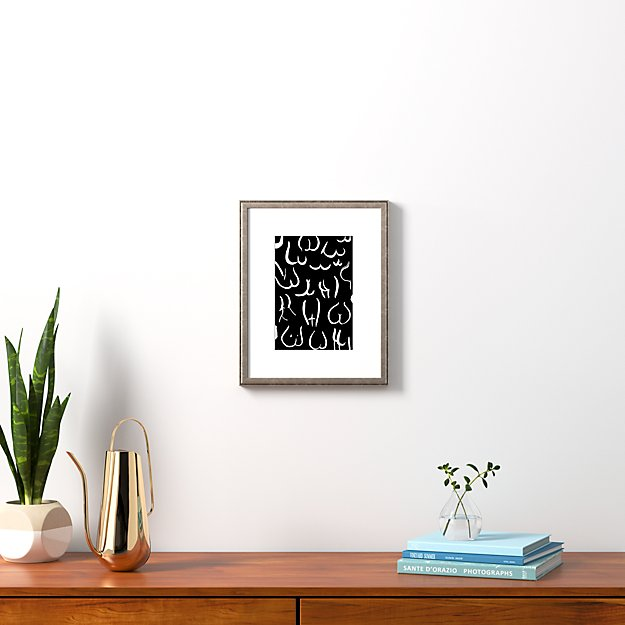 """bums white on black with pewter frame 13.5""""x16.75"""""""