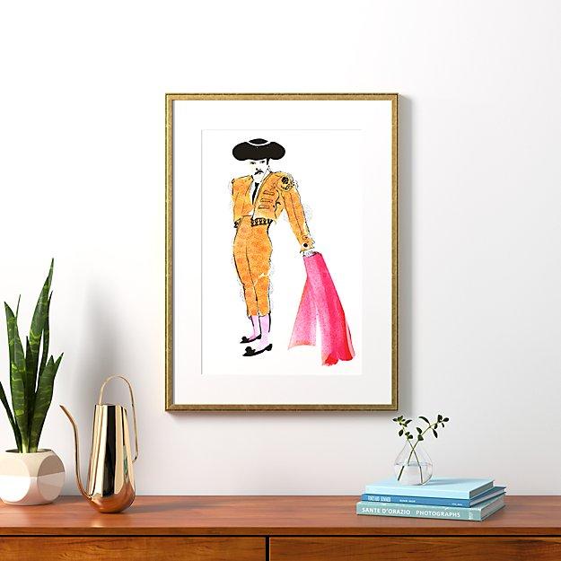 """the matador with gold frame 23.5""""x32"""""""