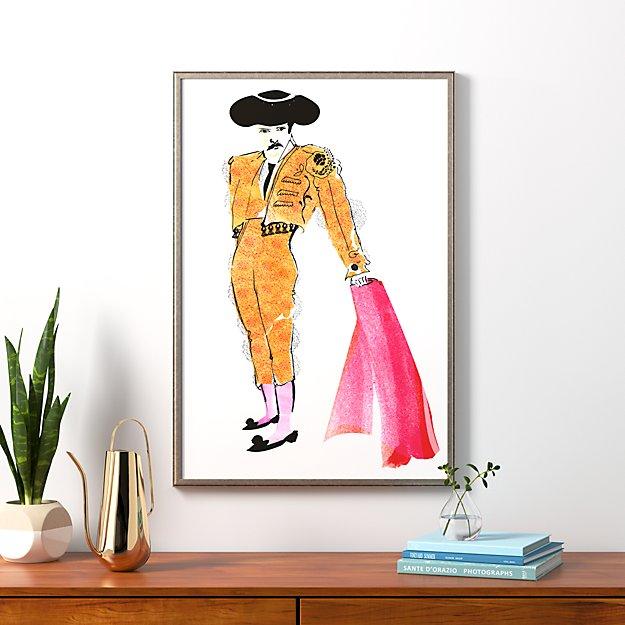 """the matador with pewter frame/no mat 25.5""""x38.25"""""""