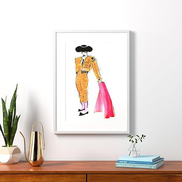 "the matador with white frame 23.5""x32"""