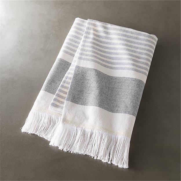 Karla Cement Hand Towel Cb2