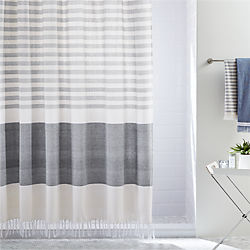 white shower curtain. Karla Cement Shower Curtain White N