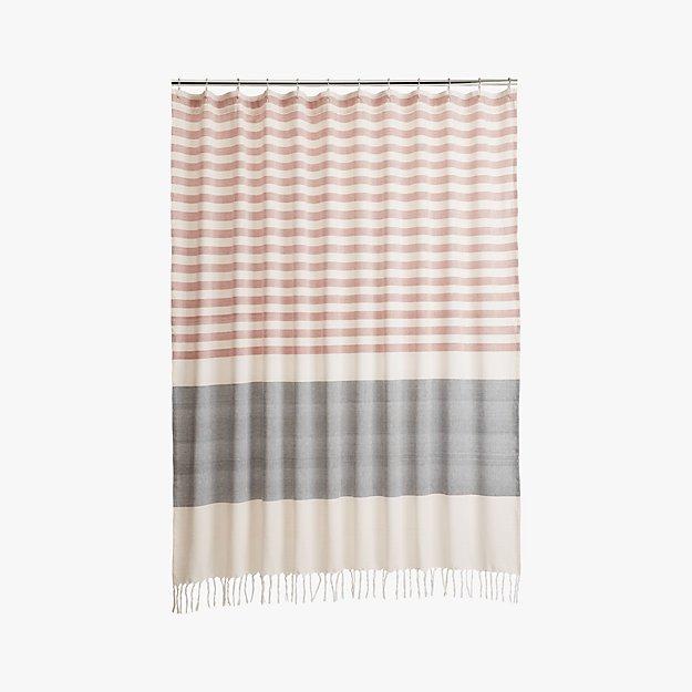 karla copper shower curtain | CB2