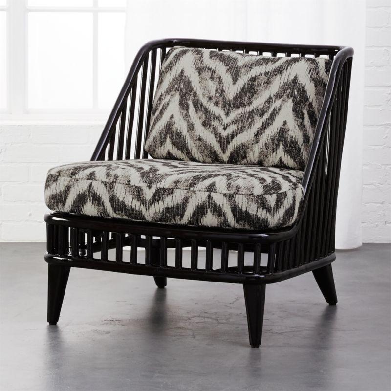 Black Rattan Chairs Cb2