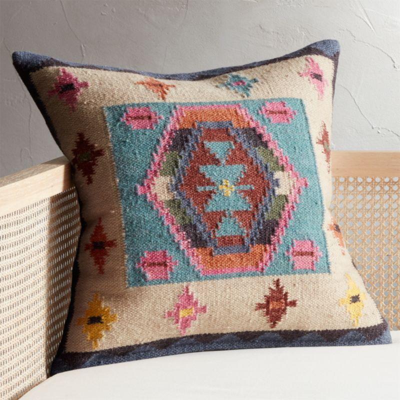 23 kilim pillow cb2. Black Bedroom Furniture Sets. Home Design Ideas