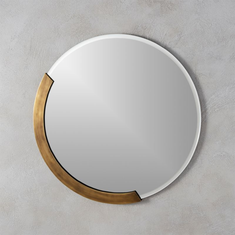Kit 24 round mirror reviews cb2 Modern round mirror