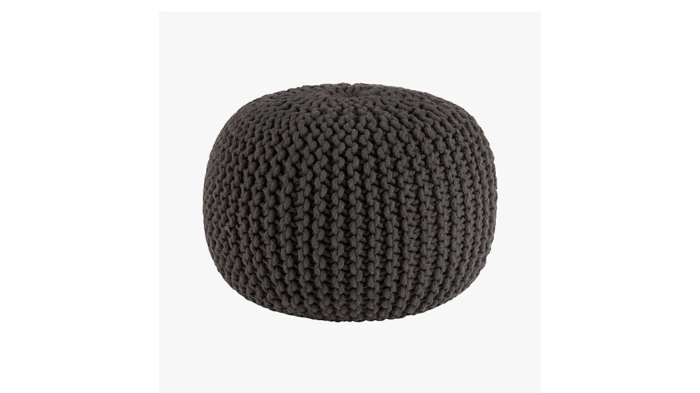 Knitted graphite pouf cb2 - Design pouf ...