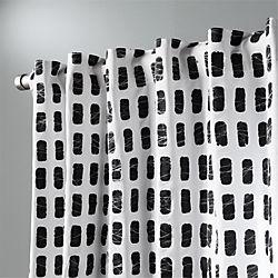 "korben plaid curtain panel 48""x84"""