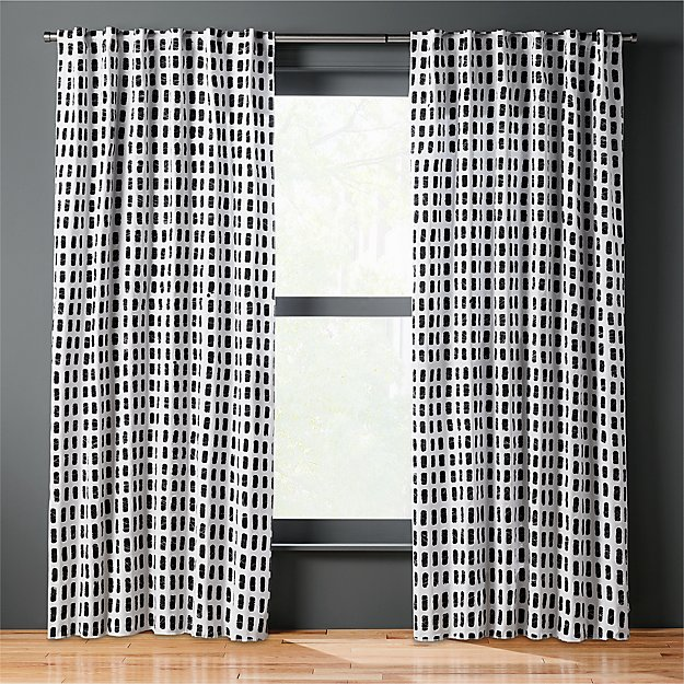 korben plaid curtain panel