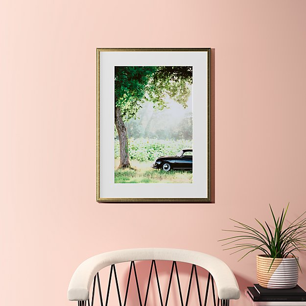"""afternoon sun with gold frame 23.5""""x31.5"""""""