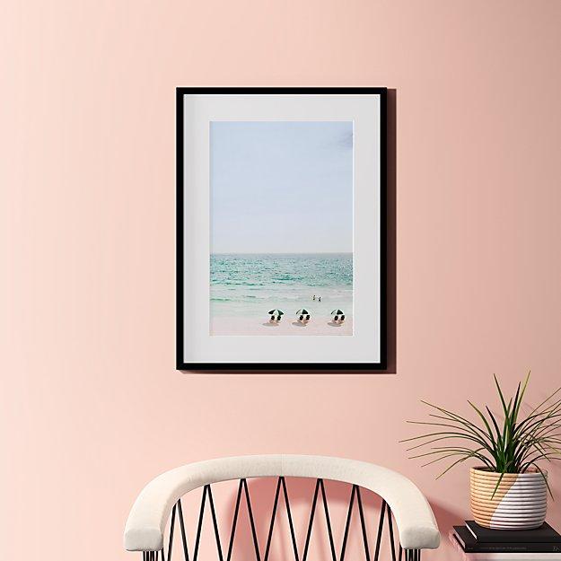 "beach life with black frame 23.5""x31.5"""