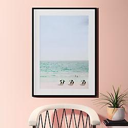 "beach life with black frame 31.5""x43.5"""