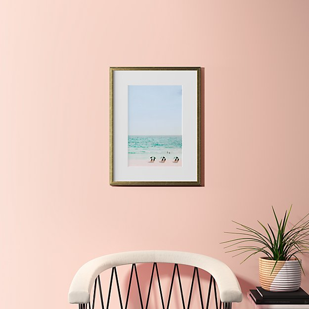 """beach life with gold frame 18.5""""x24"""""""
