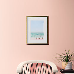 "beach life with gold frame 18.5""x24"""