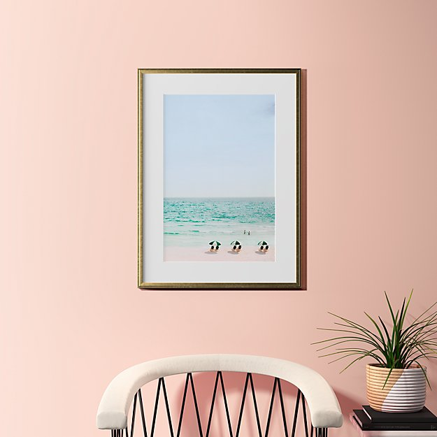 """beach life with gold frame 23.5""""x31.5"""""""