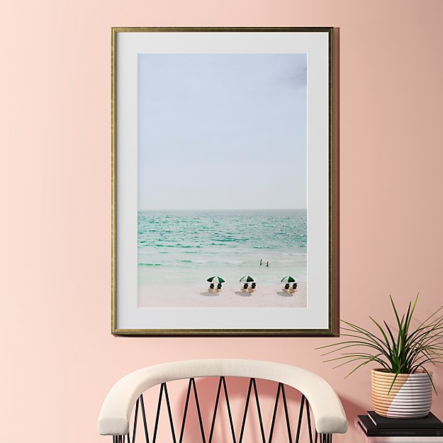 """beach life with gold frame 31.5""""x43.5"""""""