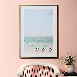 "beach life with gold frame 31.5""x43.5"""