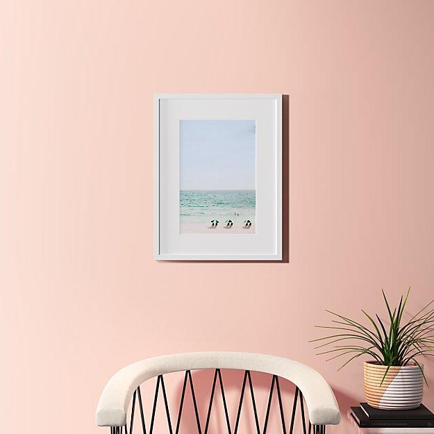 "beach life with white frame 18.5""x24"""
