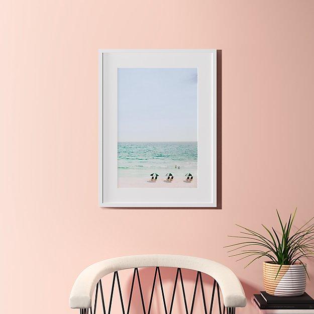 "beach life with white frame 23.5""x31.5"""