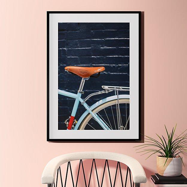 "city bike blues with black frame 31.5""x43.5"""