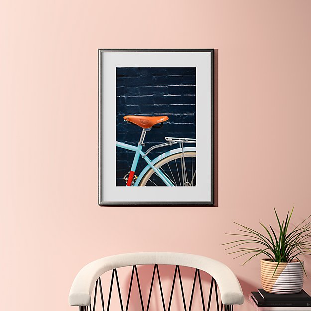"""city bike blues with pewter frame 23.5""""x31.5"""""""