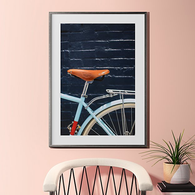 "city bike blues with pewter frame 31.5""x43.5"""