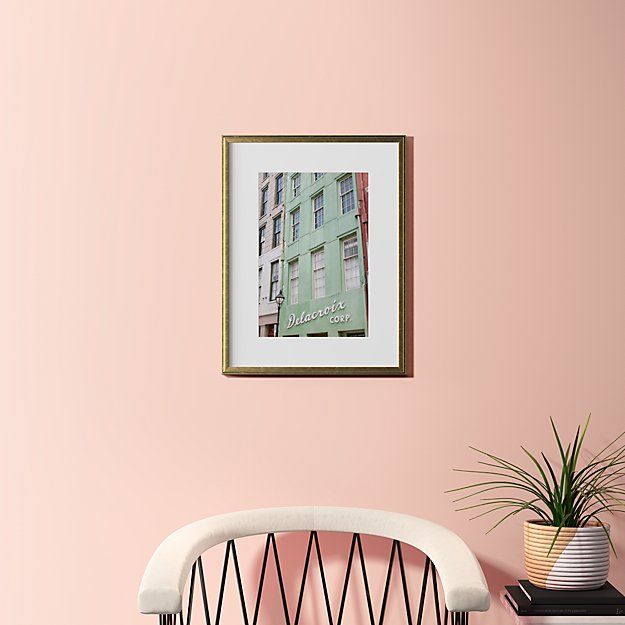 """city exploring with gold frame 18.5""""x24"""""""