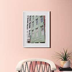 "city exploring with white frame 23.5""x31.5"""