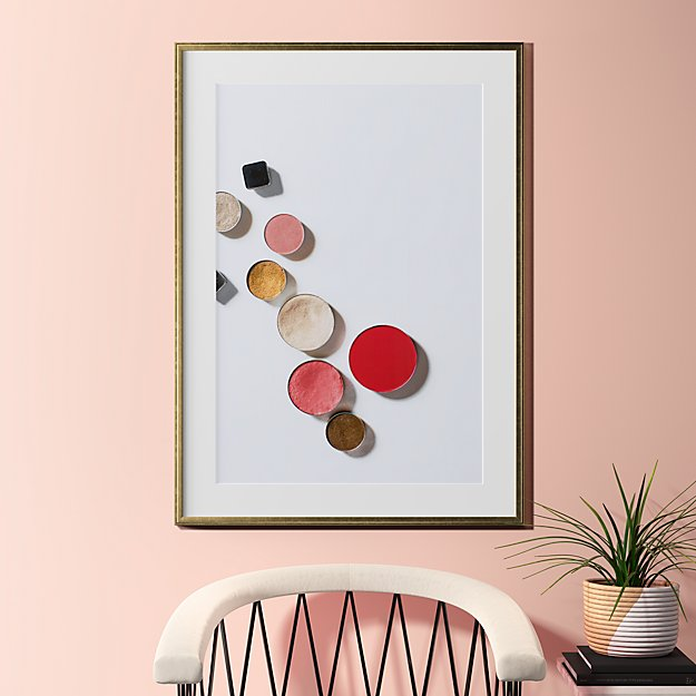 """makeup is art with gold frame 31.5""""x43"""""""