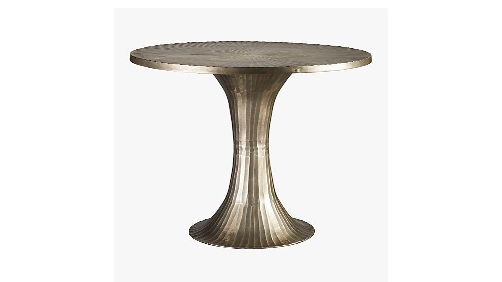 La Pera Metal Bistro Table Cb2