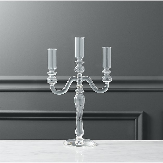 labra holds 3 taper candle holder