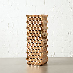 labyrinth copper vase