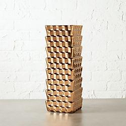 labyrinth copper vase