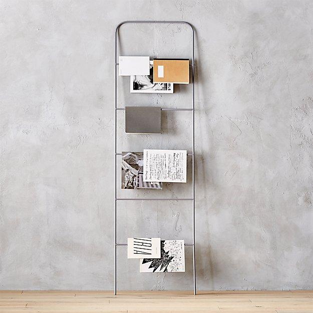 Ladder Grey Magazine Rack