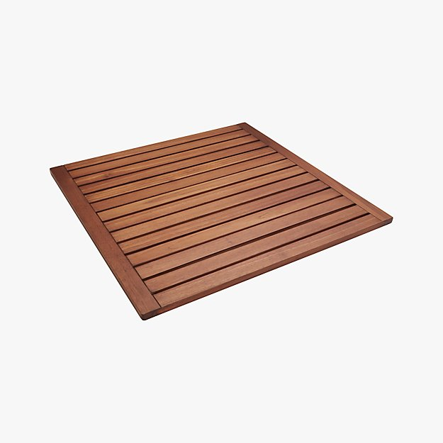lateral teak bath mat