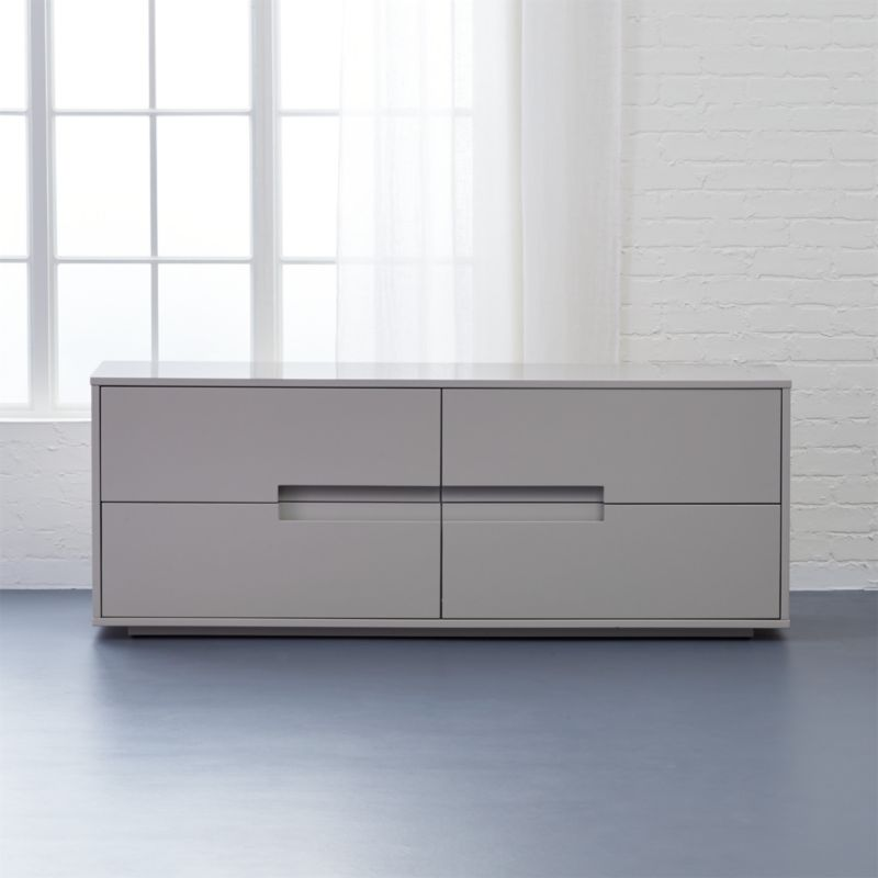 latitude oat low dresser with drawers | CB2