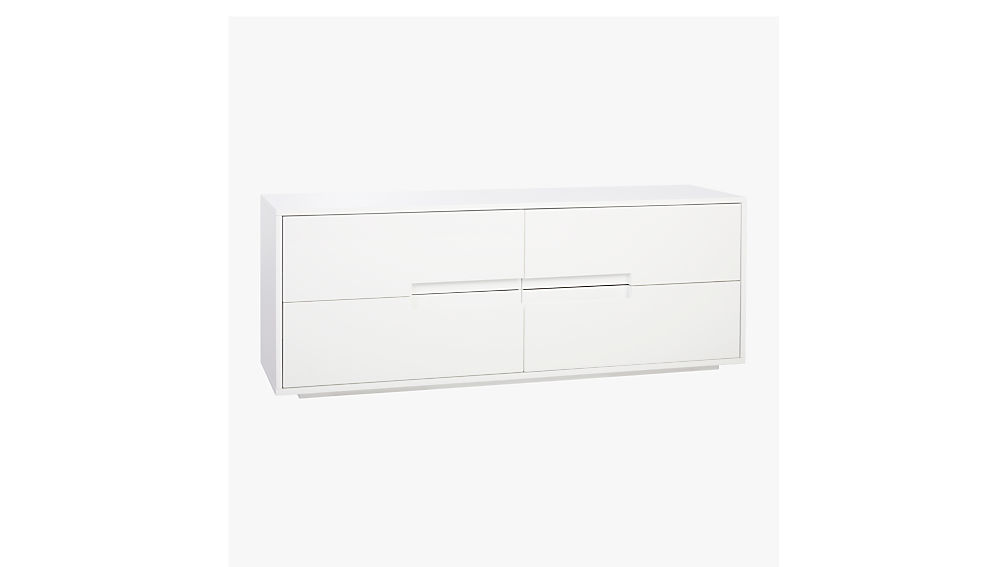 latitude white low dresser