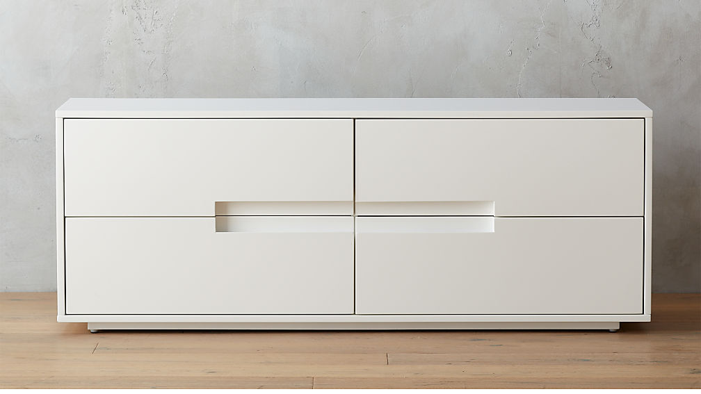 Latitude White Low Dresser Reviews Cb2