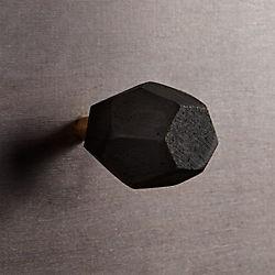 lava stone black knob